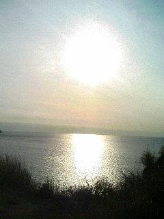 今日の岩肌と太陽
